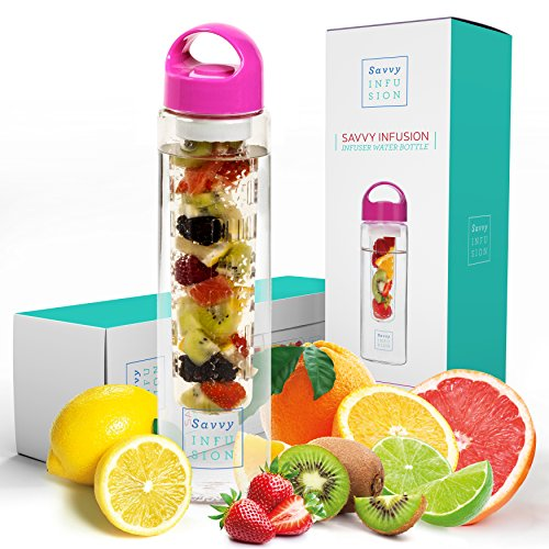 Fruit Infusion Water Bottle - Choice of Colors