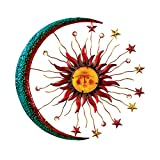 Collections Etc Metal Moon Sun And Stars Wall Decor