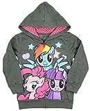 Mini Fine My Little Pony Little Girls Grey Zip Up Hoodie (2T)