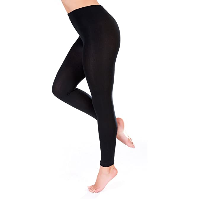 cc81eb4e0f0de Elegance Women's Extra Plus Size Full Length Plain Elastic Stretch Viscose  Leggings (Small (US