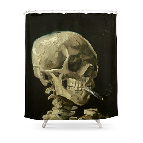 Society6 Vincent Van Gogh - Skull Of A Skeleton With Burning Cigarette Shower Curtain 71
