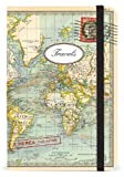 Cavallini Small Notebooks World Map 2 Travels 4 x 6