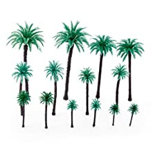 SODIAL(R) 14Pcs 1.9 Inch - 6.6 Inch Model Coconut Palm Trees Layout Train Scale 1/50