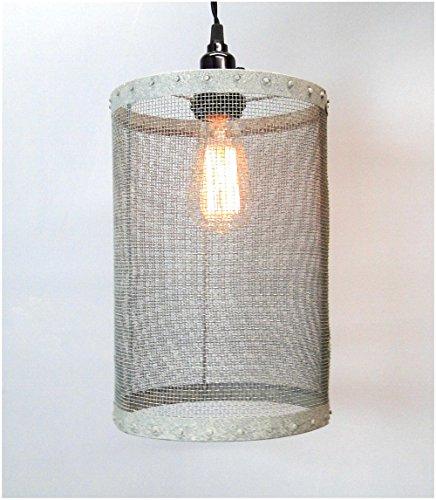 Wire Barrel Pendant Light