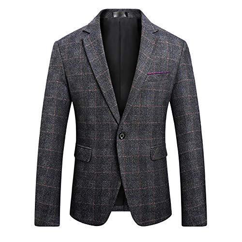 Men's Blazer Jacket Herringbone Sport Coat Smart