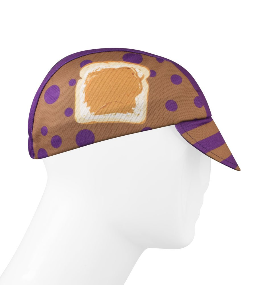 Peanut Butter & Jelly Sandwich Cycling Cap - Made in the USA