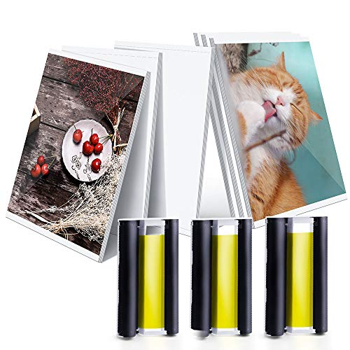(Compatible Canon KP-108IN 3 Color Ink Cassettes and 108 Sheets 4 x 6 Inch Paper Set for Canon Selphy CP Photo Printer CP1300 CP1200 CP910 CP900)