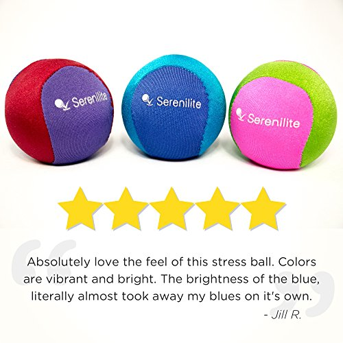 Stress Ball by Serenilite Optimal Stress Relief & Hand Therapy Gel Squeeze Ball Great for Hand Exercises and Strengthening Dual Color