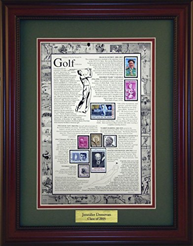Collectible Golf (Golf - Unique Framed Collectible (A Great Gift Idea) with Personalized Engraved Plate)
