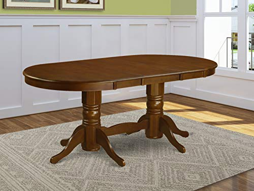 Oval Double Pedestal Dining Table with a 17inch Butterfly Leaf in Espresso