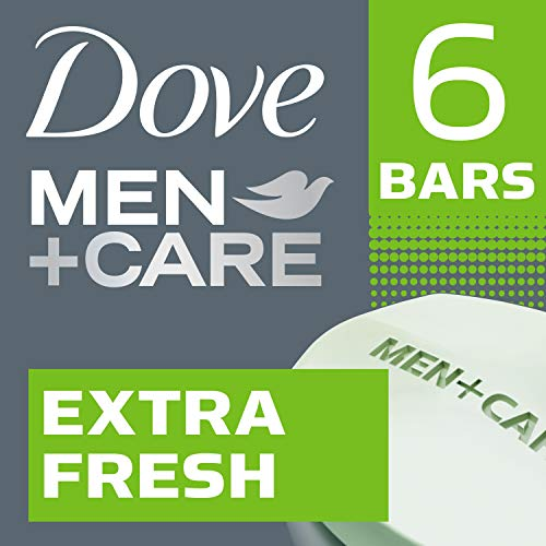 Dove Men + Care Body and Face Bar, Extra Fresh, 6 bars