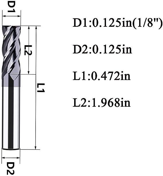 Rushmore 3//4x 1-1//4LOC ZrN Coat Carbide 2 Fl 45/° Single End Mill for Aluminum