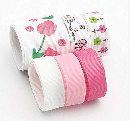 6 unds cintas florales pasteles algodon saten perfectas para mil ideas lazos pelo, canastillas,