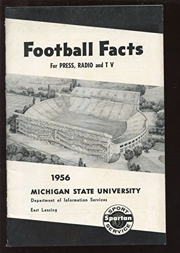 1956-NCAA-Football-Michigan-State-Spartan-Press-Radio-TV-Media-Guide-EXMT