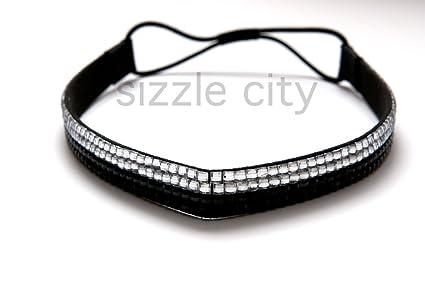Rhinestone Headband  Elastic Stretch  Rhinestone Hair Band Hair Accessory  (Black Clear) 1c904ba6752