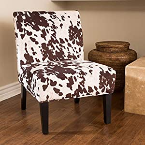 Christopher Knight Home Kassi Fabric Dining Chair, Milk Cow