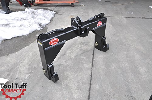 (Category II (CAT 2) Tractor Quick Hitch w/Bushings - Easily Attach/Detach 3-Pt Attachments)