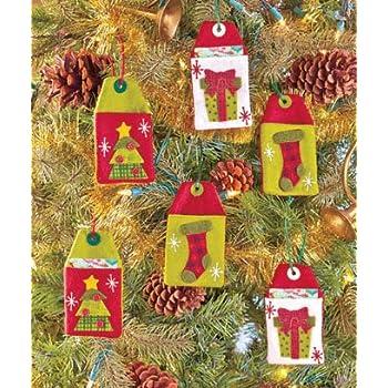 Set of 6 Reusable Felt Country Christmas Gift Card Holders
