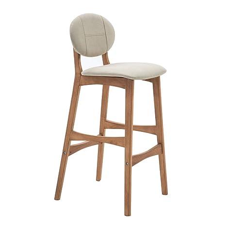 Amazon Com Bar Chair Restaurant Bar Stool Wooden High Stool