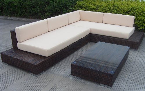 Rattan gartenmöbel lounge günstig  Amazon.de: AJ's Garden ATLANTA / Farbe schwarz Poly-Rattan ...