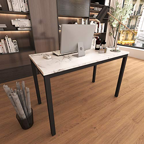 """Tilly Lin Faux Marble Writing Desk Computer Desk, Home Office Table, Sturdy and Elegant, 47.2"""" W"""