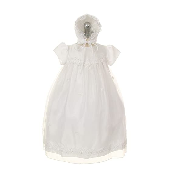 a1429b50f88 Kids Dream Baby Girls Ivory Organza Pearl Sequin Bonnet Christening Dress  3M  Amazon.co.uk  Clothing