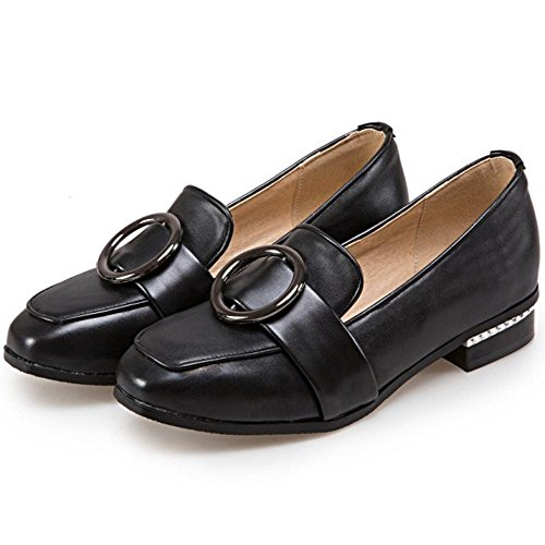 Black Slip Spring TAOFFEN 6243 Shoes On Flat Women's gHxqYS