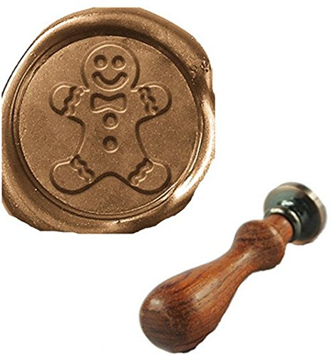 Custom Gingerbread - Vintage Christmas Gingerbread Wedding Invitation Custom Picture Logo Wax Seal Sealing Stamp Rosewood Handle Set