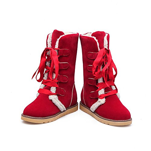 Women Boots, Hatop Fashion Women Snow Ankle Bandage Boots Casual Shoes Red