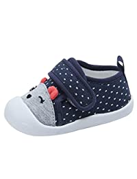 Baby Boys Girls Cotton Cartoon Breathable Rubber Sole Non-Slip Outdoor Sneakers First Walkers Shoes