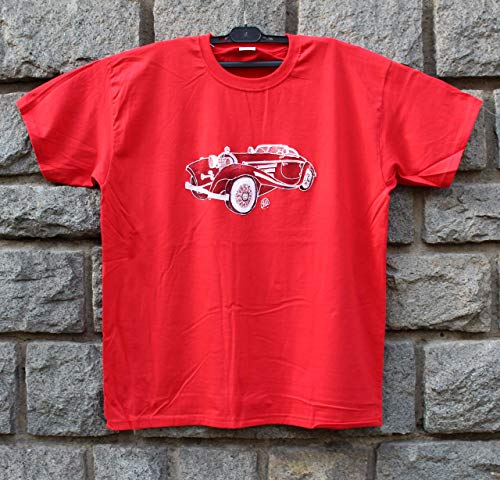 - Hand Painted Mercedes Benz 540K 1936 Roadster, Men's Car, Shirt Classic Car, Drawing Vintage Car, Fine Art from Netissimo size XL.