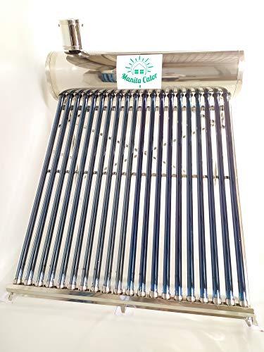 NEW pannello solare termico acqua calda , totalmente in ACCIAIO INOX aisi 304 completo di barilotto Capienza 100 Litri