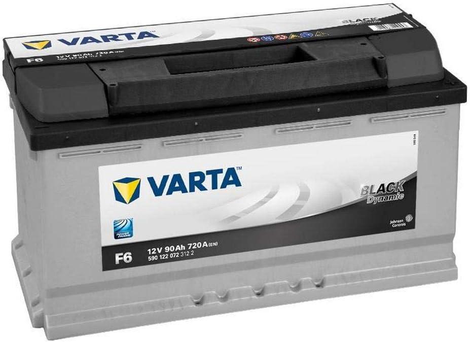 Batería para coche 590 122 072 Varta F6-90Ah 12V 720A. 353X175x190.