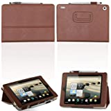 Dolextech Acer Iconia A1-810 Leather funda case cover del soporte de 7.9 pulgadas (marrón)