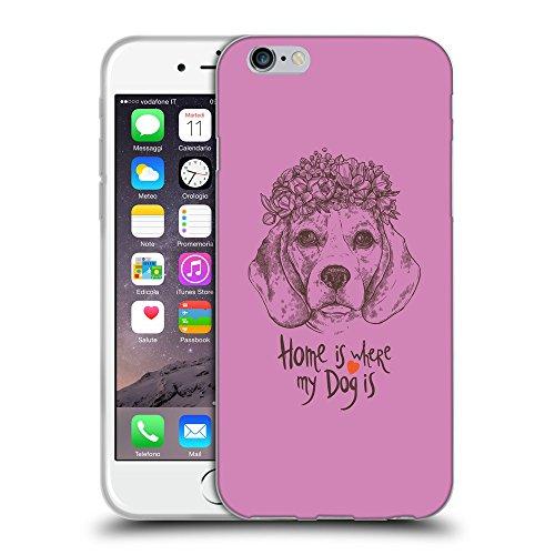 "GoGoMobile Coque de Protection TPU Silicone Case pour // Q07650618 Chien beagle Bronze // Apple iPhone 6 4.7"""