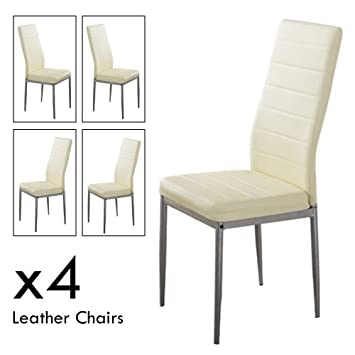 Peachy Apelila 5 Piece Kitchen Dining Table Set W Glass Top And 4 Leather Chairs Dinette 4 Dining Chair White Creativecarmelina Interior Chair Design Creativecarmelinacom