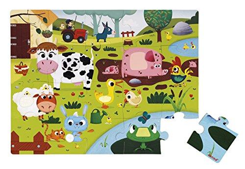 - Janod Tactile 20 Pc Puzzle Farm Animals