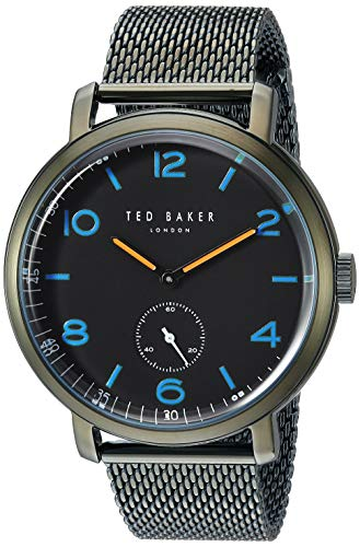 Ted Baker Men's Harry Quartz Watch with Stainless-Steel Strap, Green, 18.6 (Model: TE50372004