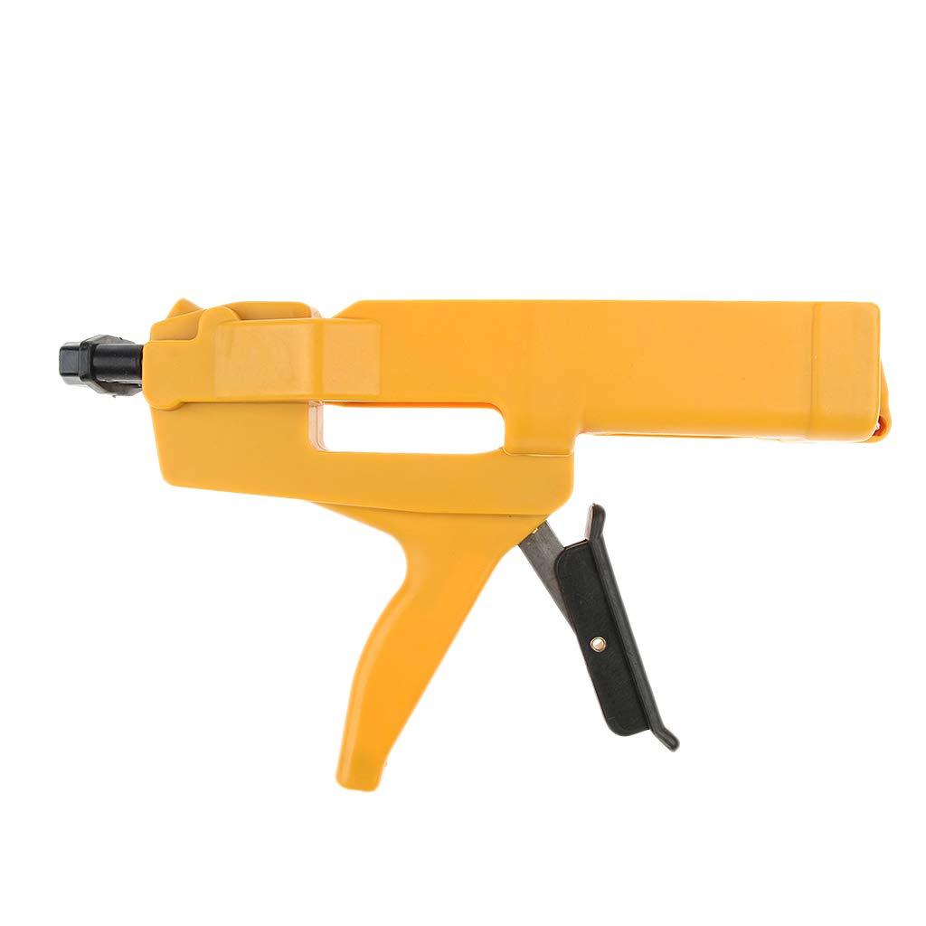 Homyl Double-Barrel No-Drip Caulk Gun 400ml/13oz/0.1Gallon Dual Cartridges ABS & Steel