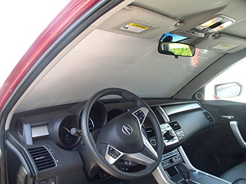 The Original Windshield Sun Shade, Custom-Fit for Acura RDX SUV 2007, 2008, 2009, 2010, 2011, 2012, Silver Series
