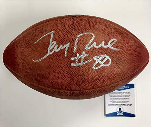 49ers Jerry Rice #80 Autographed Signed Memorabilia Wilson Official NFL Game Football Bas COA - Autographed Game Wilson Nfl Official