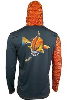 Dri-Fit UPF Clothing Salty Scales Mako Shark Performance Fishing Hoodie for Men