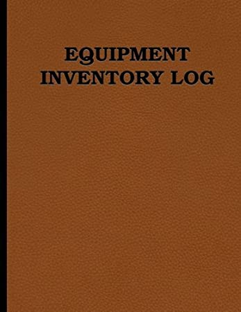 amazon equipment inventory log 100 pages double sided size