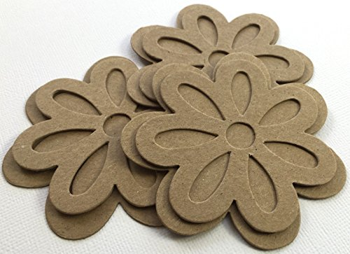 9 OPEN PETAL LAYERED DAISIES Chipboard Flower Die Cuts - 3 of Each Design