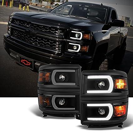 U barra de neón estilo negro Ahumado 2014 - 15 Chevy Silverado ...