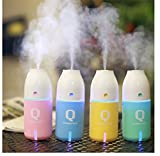Q Bottle Humidifier LED Cool Mist Essential Oil Aroma Car...