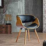 Corvus Peyton Bent Plywood Arm Chair with Wraparound Back