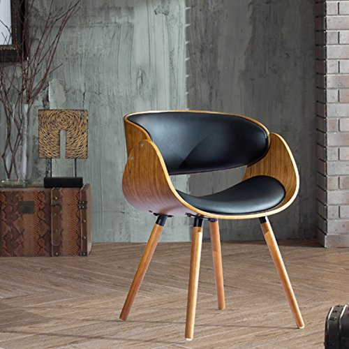 Bent Plywood Chair (Corvus Peyton Bent Plywood Arm Chair with Wraparound Back)