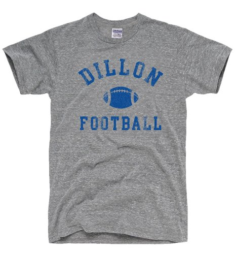 DirtyRagz Men's Dillon Panthers Football T-Shirt L Heather GREY