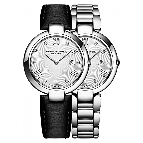 - Raymond Weil Women's 'Shine' Swiss Quartz Stainless Steel Casual Watch, Color:Silver-Toned (Model: 1600-ST-00618)